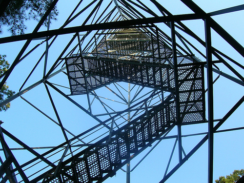 Hickory Ridge Fire Tower, Looking Skyward