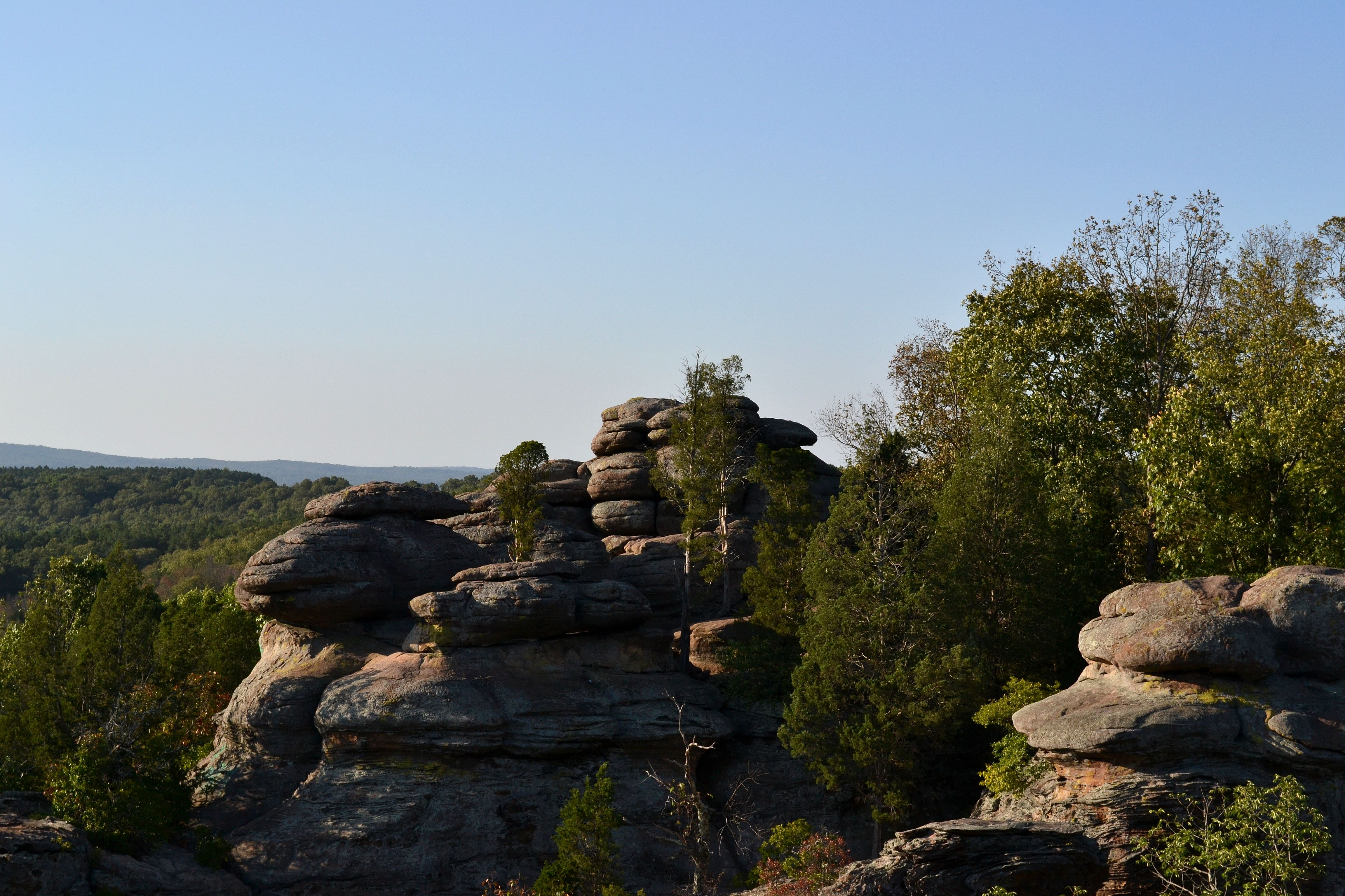 weekend trip to shawnee national forest s garden of the gods the