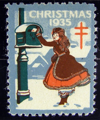 CC-licensed photo of the 1935 Christmas Seal by flickr user hannibal1107