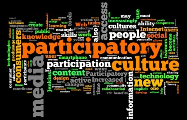 "Wordle of Wikipedia Entry for ""Participatory Culture."""